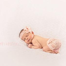 Pink Lace Newborn Girl