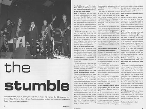 The Stumble Interview in Blue In Britain
