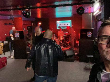 Soundcheck at B.U.M.S (Barrow Underground Music Society)