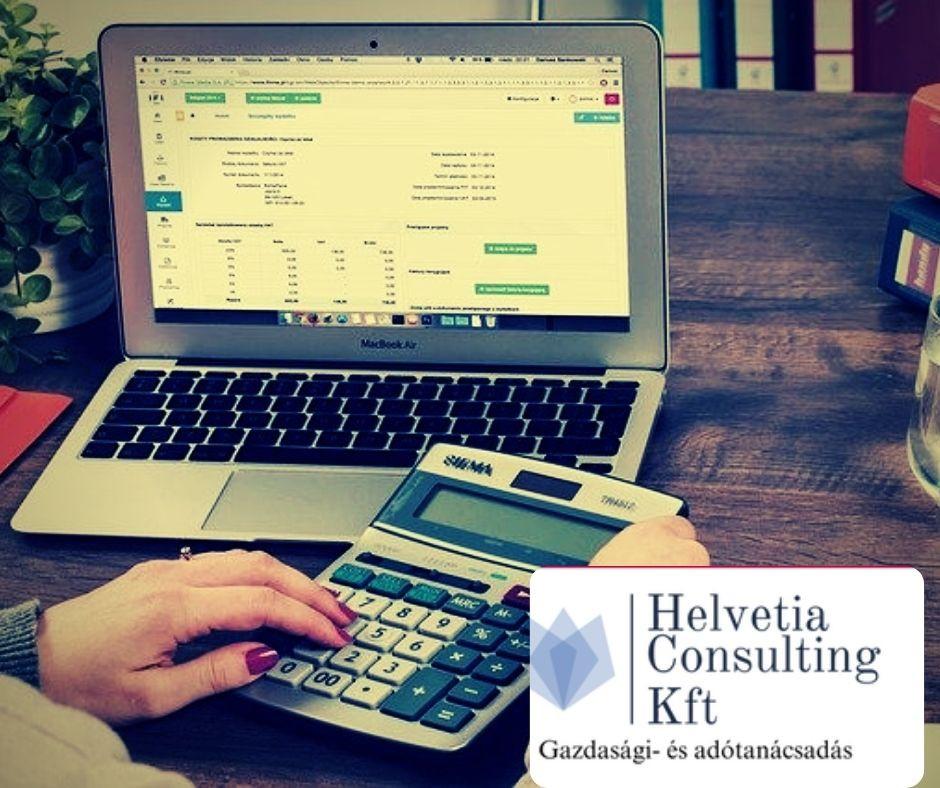 Szükség van könyvelőre, adó jogszabályok ismerete, adótörvények alkalmazása terén, a Helvetia Consulting ebben partner