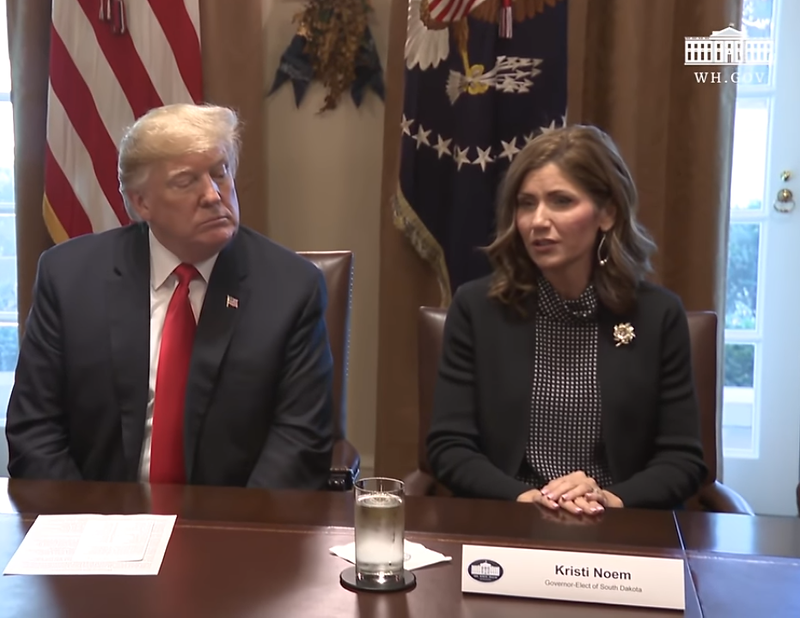 MAGA Governor of South Dakota Kristi Noem & President Donald J Trump in the White House promoting the MAGA Agenda. Governor Kristi Noem will make a great successor for President Trump in 2024! #MAGA #KAG