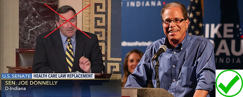 MAGA Candidate Mike Braun evicts Swamp Dweller Joe Donnelly from the Senate in November 2018!!! #MAGA #KAG #TRUMPTRAIN