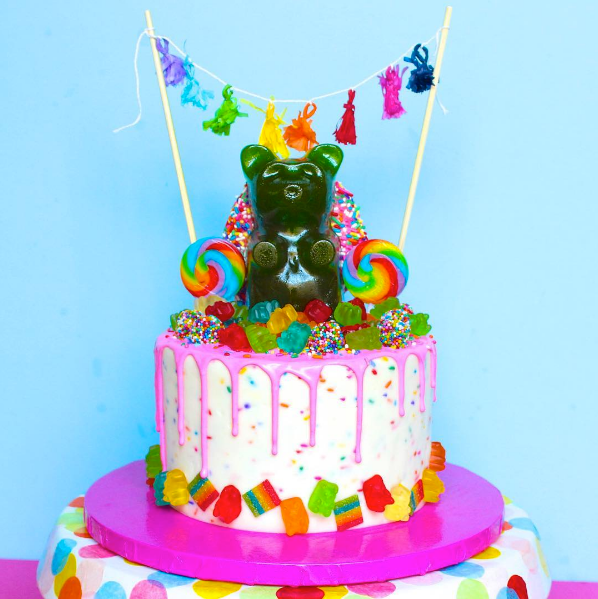 King Gummy Bear Cake