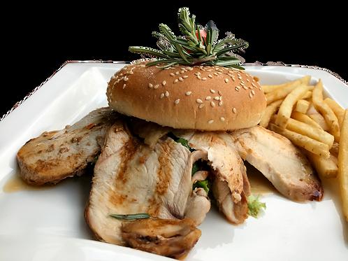 Sliced Roast Chicken & Burger