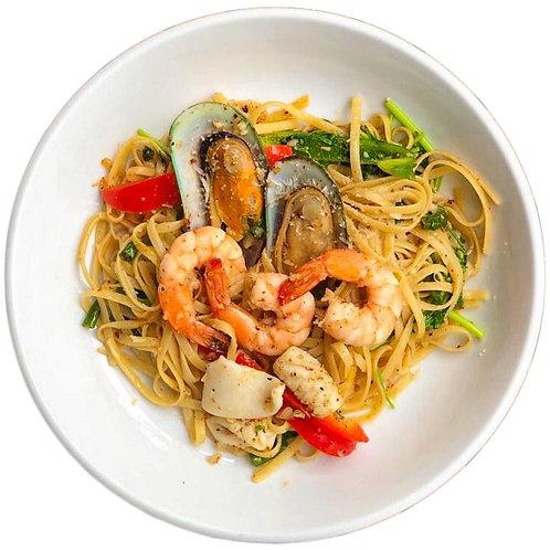 Seafood Linguine Aglio Olio