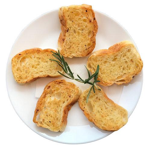 Focaccia Garlic Toasts
