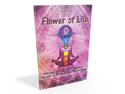 """""""Flower of Life"""" Writing Journal with spiritual quotes to raise your Consciousne"""
