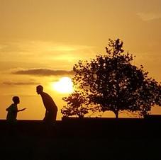Playful sunset
