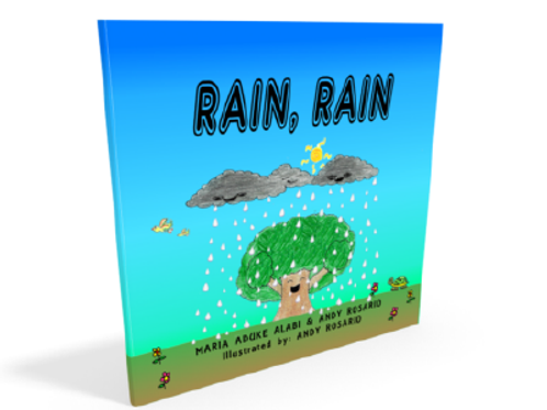 "Children's book ""Rain, Rain"" by Andy Rosario & Maria Aduke Alabi"