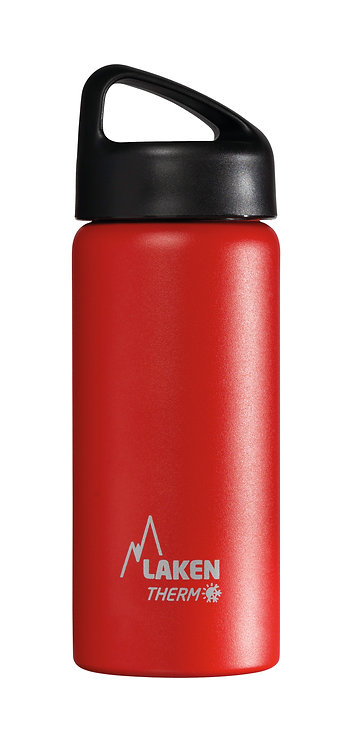 LAKEN ST. STEEL THERMO BOTTLE - 0.5L - RED