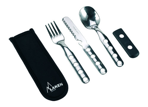 S/S CUTLERY 3 PCS WITH NEOPRENE COVER