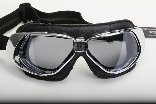 NANNINI RIDER CHROME BLACK GREY ANTIFOG