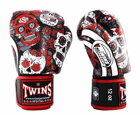 FANCY BOXING GLOVES SIGNATURE DESIGN REAL LEATHER  14oz