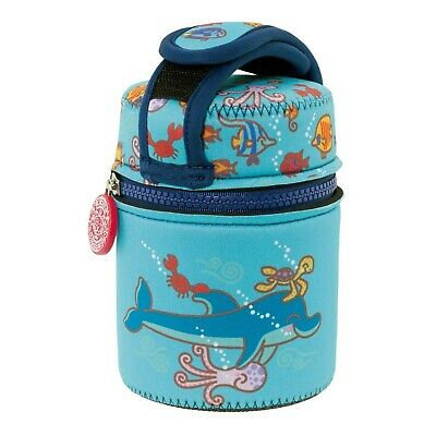 S/S THERMO FOOD CONTAINER 0.5L + NEOPRENE COVER KATUKI DOLPHIN BLUE
