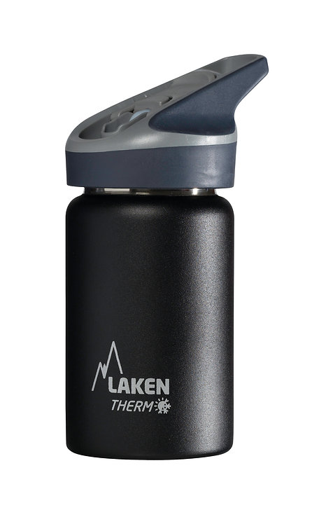 LAKEN ST. STEEL THERMO BOTTLE - 0.35L - BLACK