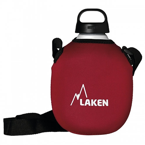 ALU BOTTLE CLASICA 1.0L WITH NEOPRENE COVER AND SHOULDER STRAP