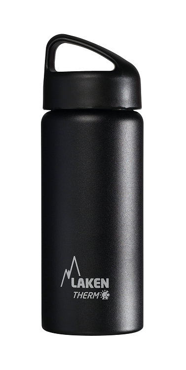 LAKEN ST. STEEL THERMO BOTTLE - 0.5L - BLACK