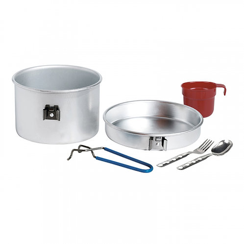 ALUMINIUM COOKING SET 1P 1.25L WITH CUTLERY AND CUP