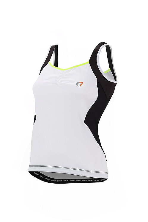 GT TOP LADY WHITE BLACK LIME