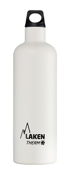 LAKEN ST. STEEL THERMO BOTTLE - 0.75L - WHITE
