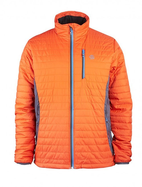 CHAQUETA KONGUR JACKET ORANGE RED WHALE GREY