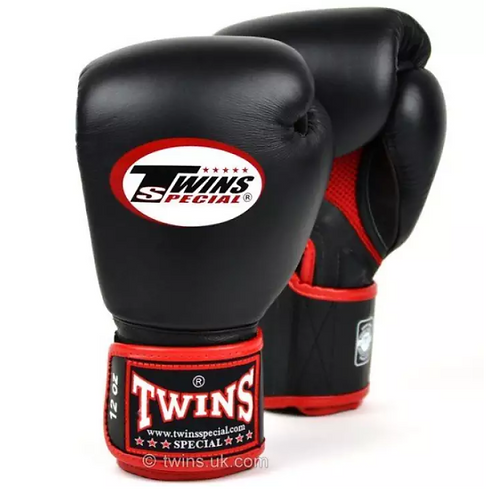 TWINS BOXING GLOVES REAL LEATHER MESH EDITION  12OZ