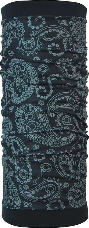 PAC TWISTED FLEECE PAISLEY BLACK