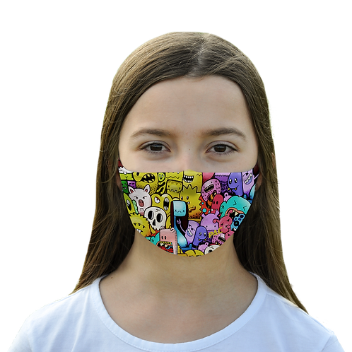 PAC MOUTH NOSE MASK KIDS MONSTERS