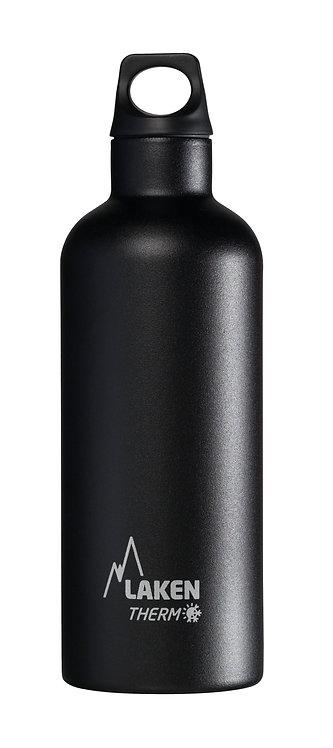 LAKEN ST. STEEL THERMO BOTTLE - 0.5L - BLACK