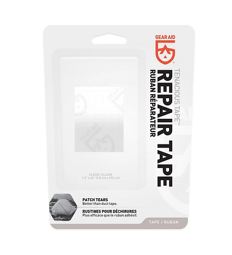 "TENACIOUS TAPE REPAIR STRIP CLEAR 1.5"" X 60"""