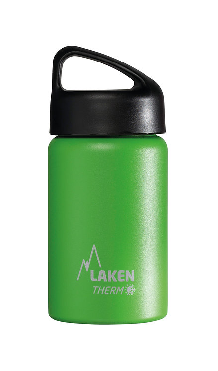 LAKEN ST. STEEL THERMO BOTTLE - 0.35L - GREEN