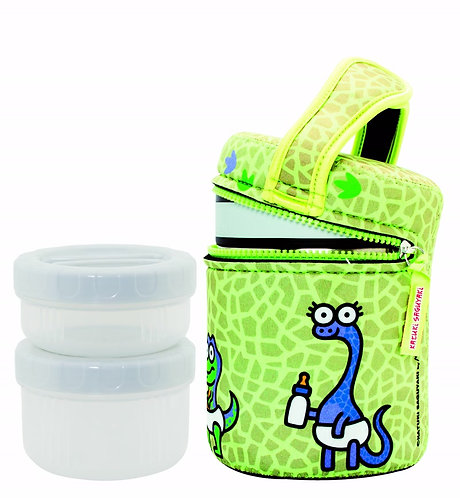 ST. STEEL THERMO FOOD CONTAINER 1.0L + NEOPRENE COVER KATUKI DINOS