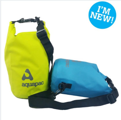 TRAILPROOF DRYBAG 15L GREEN WITH SHOULDER STRAP
