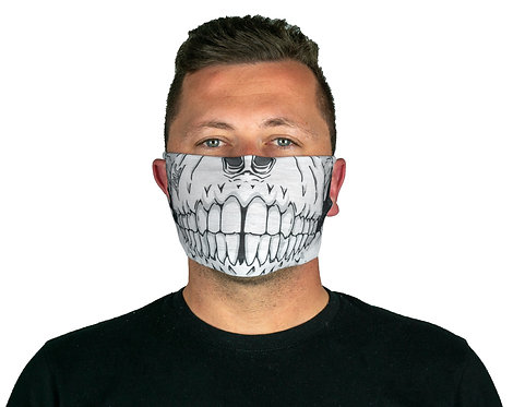 PAC MOUTH NOSE MASK SKULL HEAD