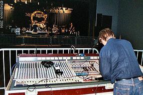 sonorisation eclairage concert rock