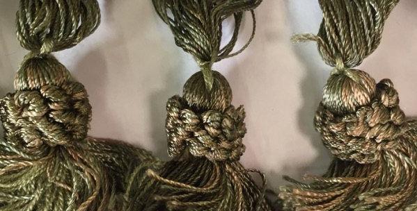 Olive Green Tassel Fringe