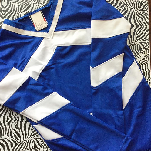 Royal Blue and White Child Performance Top