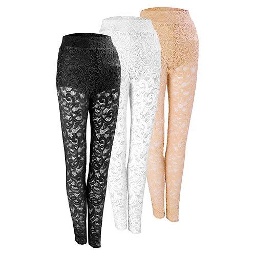 Lace dance leggings