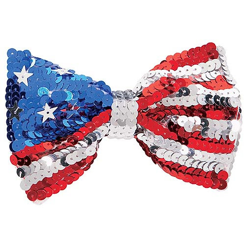 All America Sequin Bow Tie