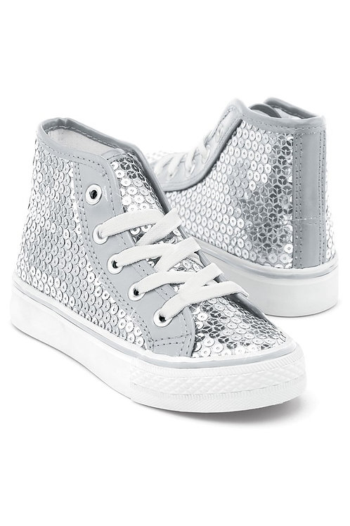 SEQUIN HIGH-TOP SNEAKER