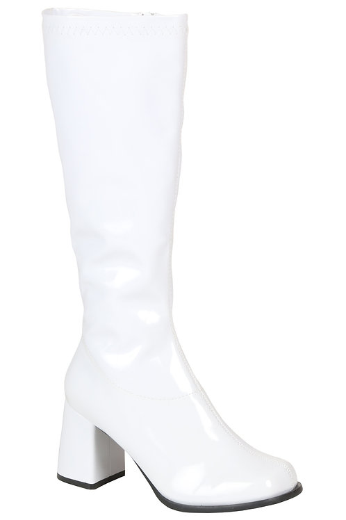 White gogo boot