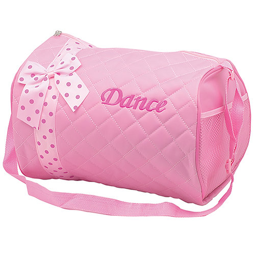 PINK Quilted duffle bag