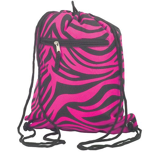 BLACK/HOT PINK Zebra sling bag