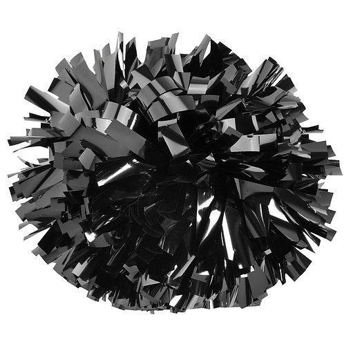 Black Metallic Cheer Pom
