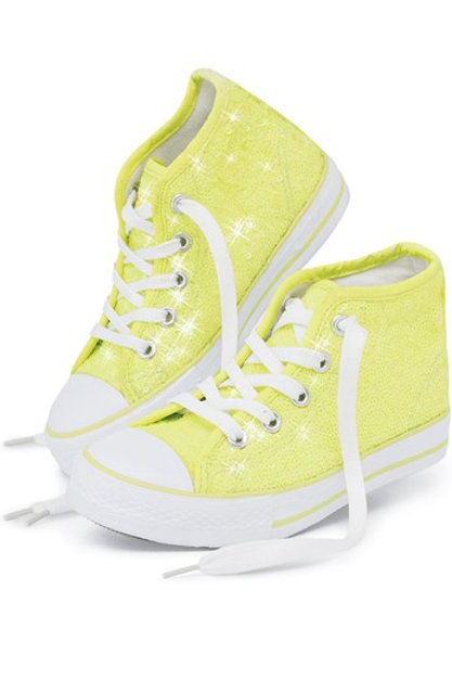 Bright Yellow Sneakers