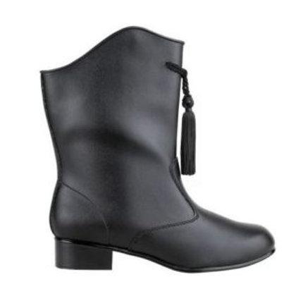Black vinyl majorette boot