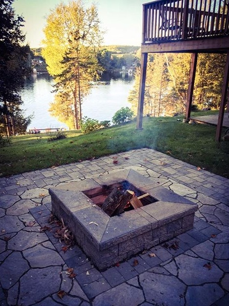 fire pit cottage life luxury