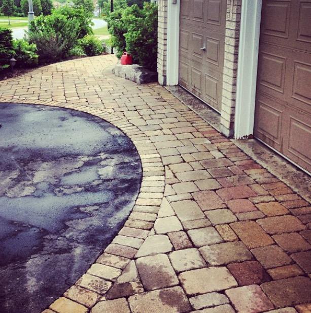 driveway border semi-circle