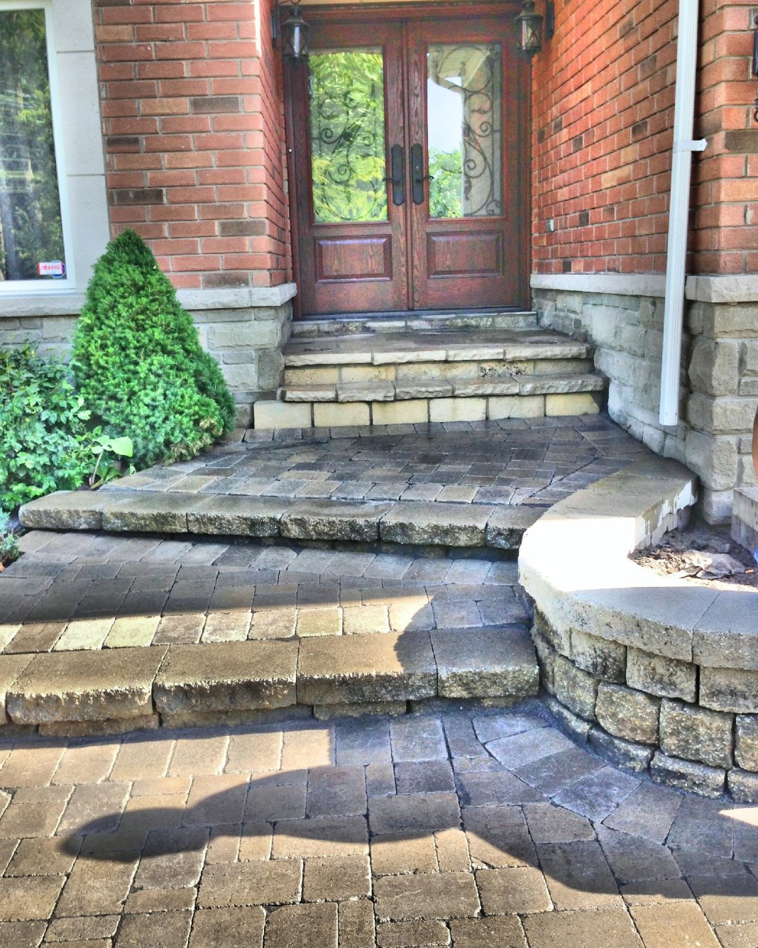 entrance way interlock with steps