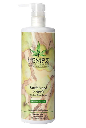 Hempz Sandlewood and Apple herbal body scrub